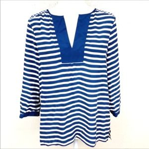 Michael Stars Silk Striped Top Size XS